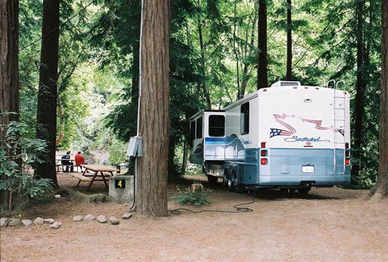 Rv Camping Fernwood Campground Resort Big Sur California