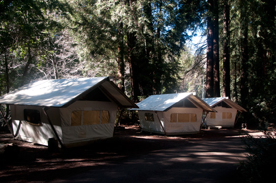 Tent cabins fernwood resort big sur california for Big sur campground and cabins